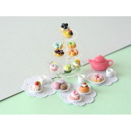Miniature mug and plate set