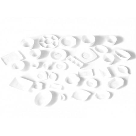 Acheter Lot de vaisselles miniatures en plastique blanc - 13,79€ en ligne sur La Petite Epicerie - 100% Loisirs créatifs