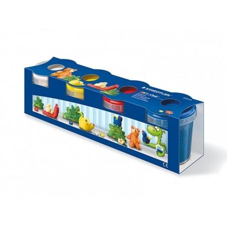 Acheter Set de 4 pots de pâte à modeler - couleurs primaires - 12,19€ en ligne sur La Petite Epicerie - Loisirs créatifs
