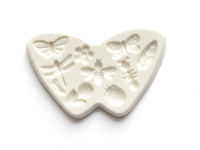 Moule en silicone fleurs et insectes Wepam - 1