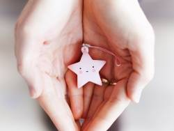 Mini charm - pink star