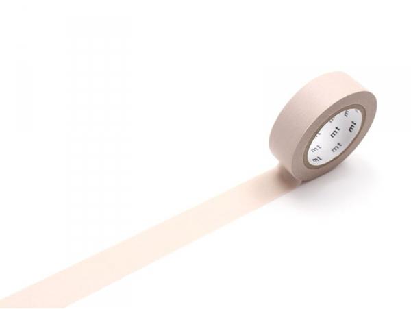 Masking tape uni - marron pastel Masking Tape - 1