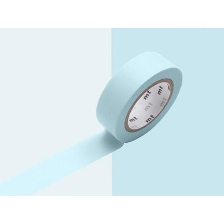 Masking tape uni - bleu poudré pastel Masking Tape - 2