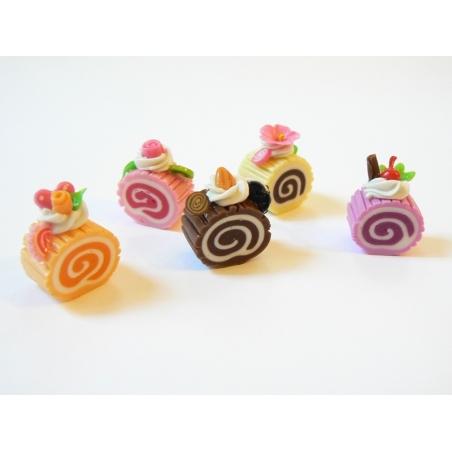 5 délicieuses parts de gateau roulé miniature