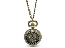 Vintage pocket watch with an arabesque design - bronze-coloured