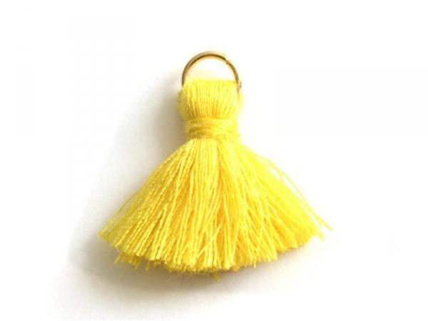 Acheter Pendentif pompon - jaune - 0,59€ en ligne sur La Petite Epicerie - 100% Loisirs créatifs