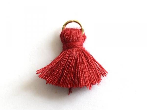 Acheter Pendentif pompon - rouge bordeaux - 0,59€ en ligne sur La Petite Epicerie - 100% Loisirs créatifs