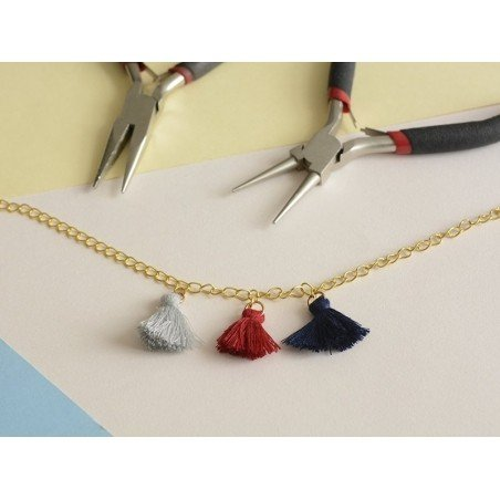 Acheter Pendentif pompon - gris - 0,59€ en ligne sur La Petite Epicerie - 100% Loisirs créatifs