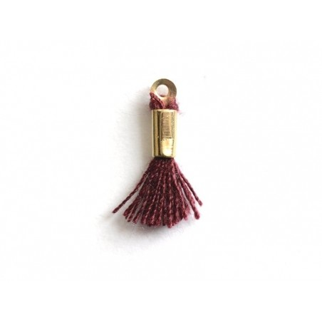 Acheter breloque mini-pompon - rouge bordeaux  - 0,29€ en ligne sur La Petite Epicerie - Loisirs créatifs