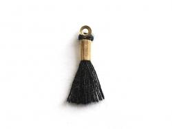 breloque mini-pompon - noir