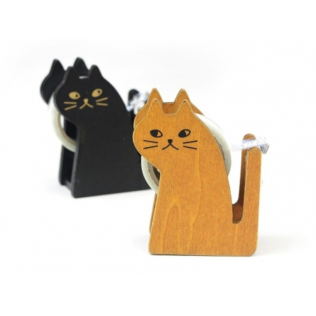 Dispenser in the shape of a cat - for adhesive tape - black