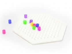 Plaque support pour perles HAMA MIDI classiques - hexagone Hama - 6