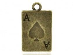 1 Breloque carte à jouer Bronze