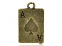 1 bronzefarbener Spielkartenanhänger