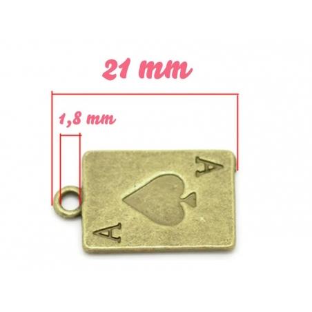 Acheter 1 Breloque carte à jouer Bronze - 1,19€ en ligne sur La Petite Epicerie - Loisirs créatifs