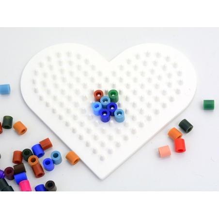 Plaque support pour perles HAMA MIDI classiques - petit coeur Hama - 6