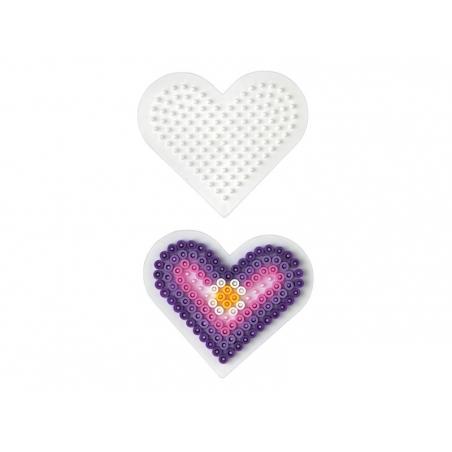 Plaque support pour perles HAMA MIDI classiques - petit coeur Hama - 7