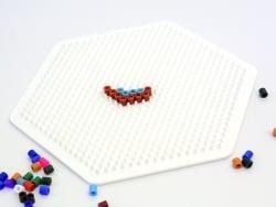 Plaque support pour perles HAMA MIDI classiques - grand hexagone Hama - 6