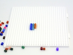 Pegboard for classic HAMA MIDI beads - big square
