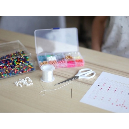 Bag of 1,000 HAMA MIDI beads - pearlised white