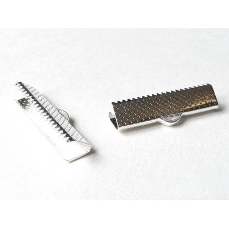 Acheter Fermoir griffe pour biais de tissu 22 mm - Argenté foncé - 0,39€ en ligne sur La Petite Epicerie - Loisirs créatifs