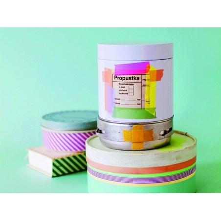 Masking tape trio (slim) F - Three-coloured design, silver