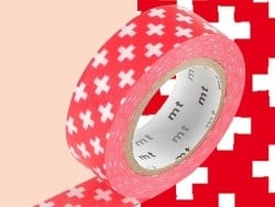 Masking tape with a pattern - Red crosses