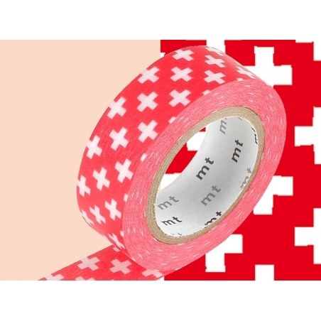 Masking Tape motifs croix - rouge