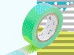 Masking tape motif - Deco fluo vert E