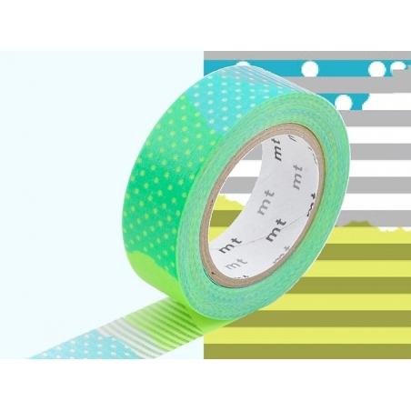Patterned masking tape - Neon green pattern (E)