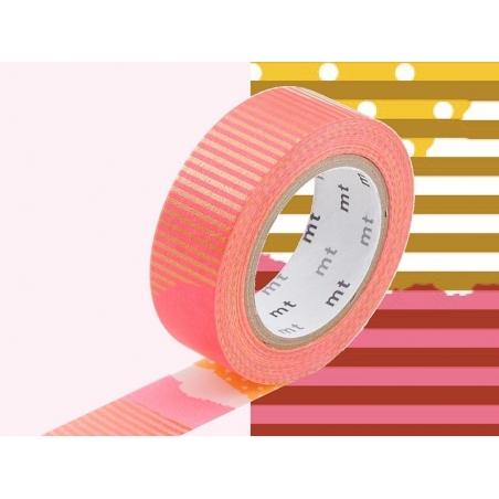 Patterned masking tape - Neon pink pattern (F)