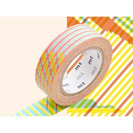 Masking tape motif - Rayures croisées rouge Masking Tape - 5