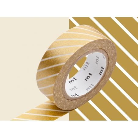 Patterned masking tape - Golden stripes