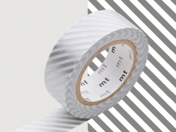 Patterned masking tape - Silver stripes