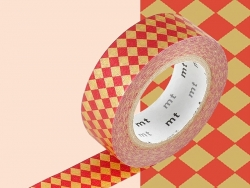 Masking tape with a pattern - Red harlequin pattern