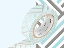 Masking tape motif - Tressage/Angle bleu Masking Tape - 5