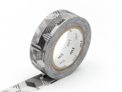 Masking tape with a pattern - Cubes and stripes
