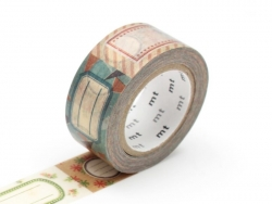 Masking tape with a pattern (20mm) - Tags