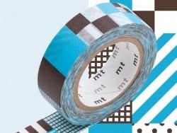 Masking tape motif - Mix Blue