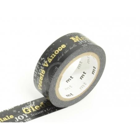 Masking tape Noël message