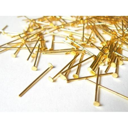 Acheter 10 clous dorés à tête plate - 20 mm - 1,09€ en ligne sur La Petite Epicerie - Loisirs créatifs
