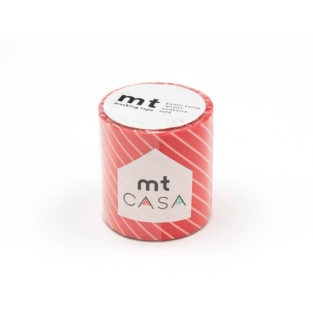 Casa masking tape - red with white stripes