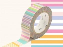 Masking Tape motif - rayures pastels