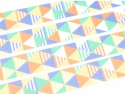 Patterned masking tape - Shimasankaku blue