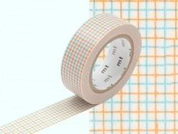 Patterned masking tape - Hougan aqua x mikan