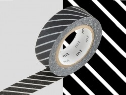 Patterned masking tape - black with stripes
