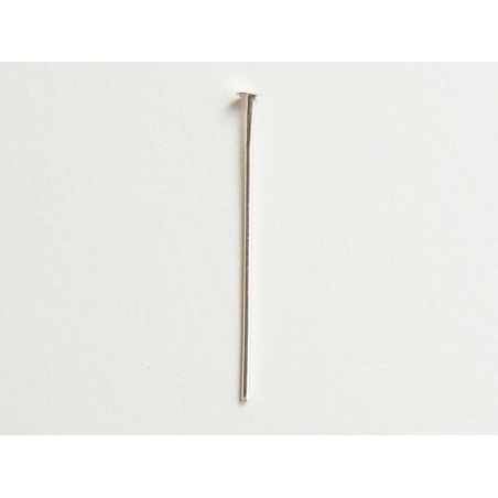 10 head pins - 22 mm - silver-coloured
