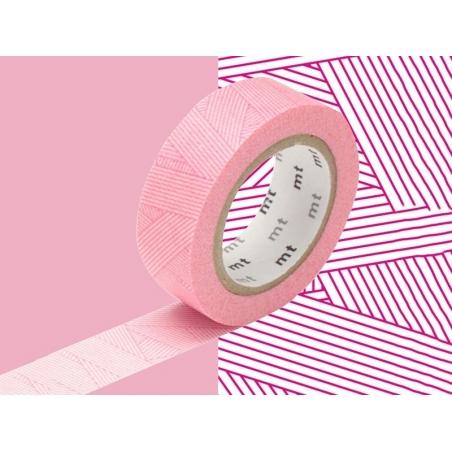 Patterned masking tape - red stripes