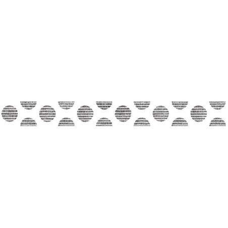 Patterned masking tape - black striped polka dots
