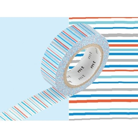 Patterned masking tape - blue stripes